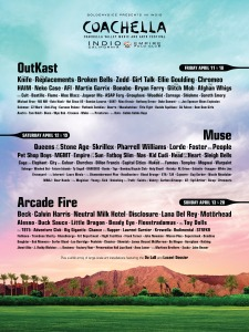 The first incarnation of the Coachella 2014 lineup.